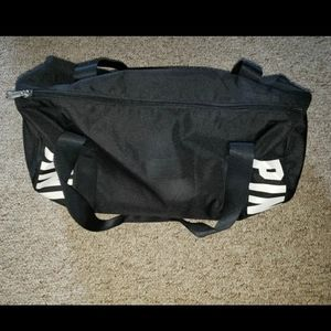 Pink victoria secret Black duffle bag